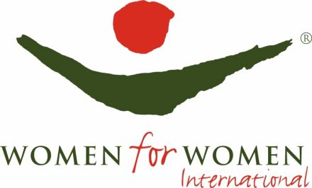 Women Have Wings Partner: Women for Women International Logo